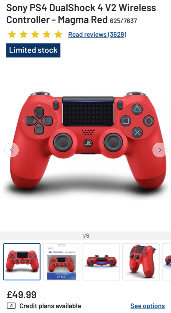 *BRAND NEW* Sony PS4 Controller Red