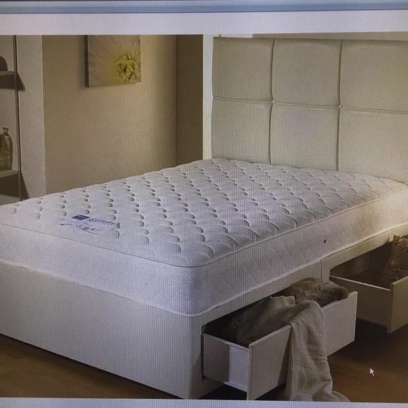 Divan Bed bass and mattress Double