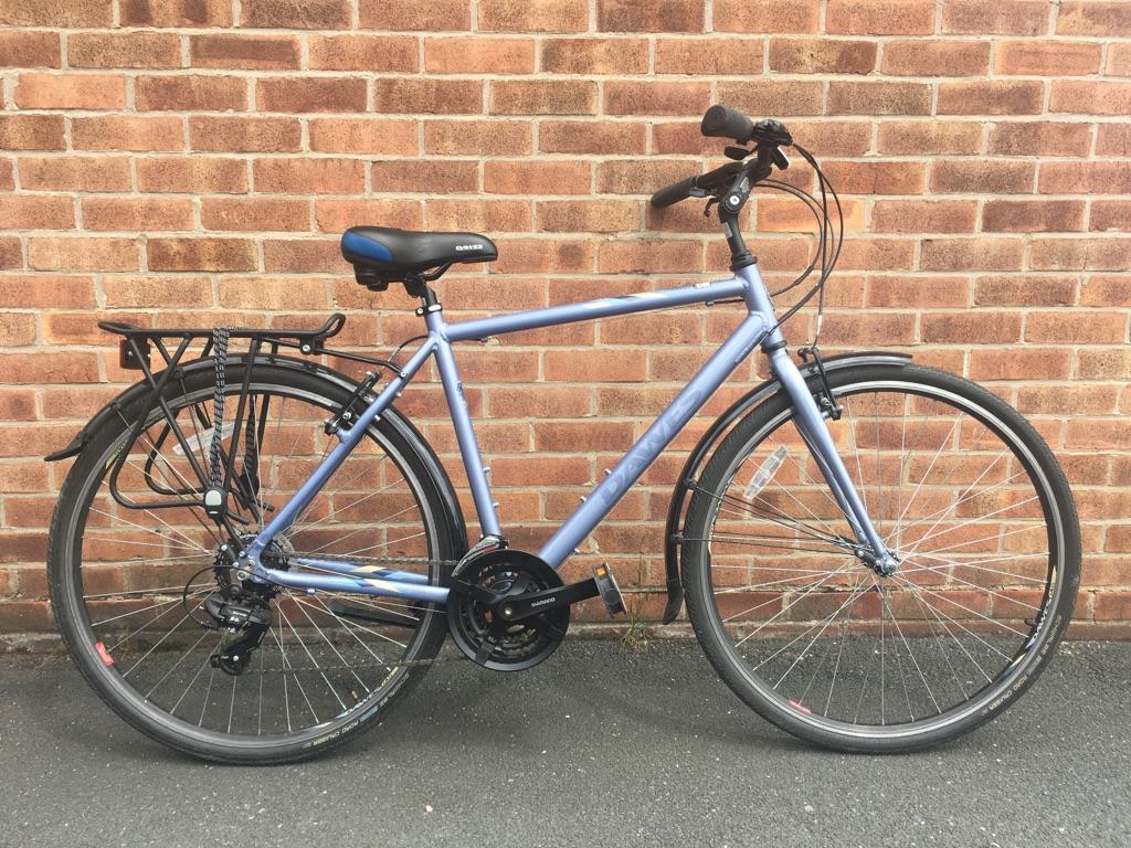 Dawes road bike with pannier rack
