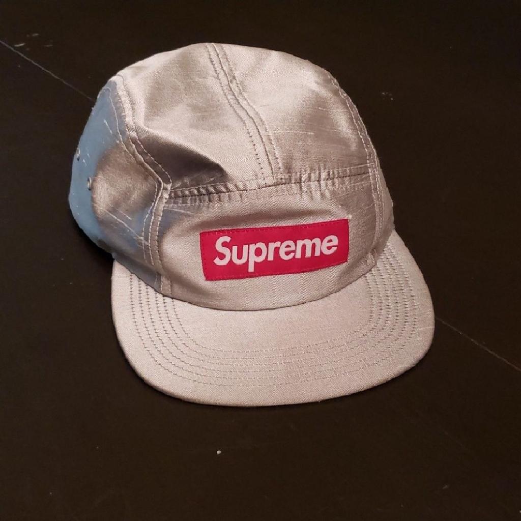 Supreme hat silver