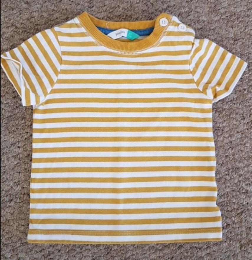 Boys striped John Lewis T-shirt 6-9 Months