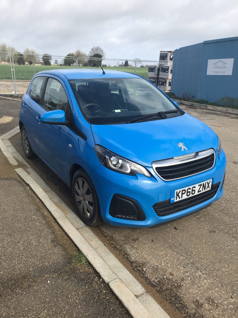French blue Peugeot 108