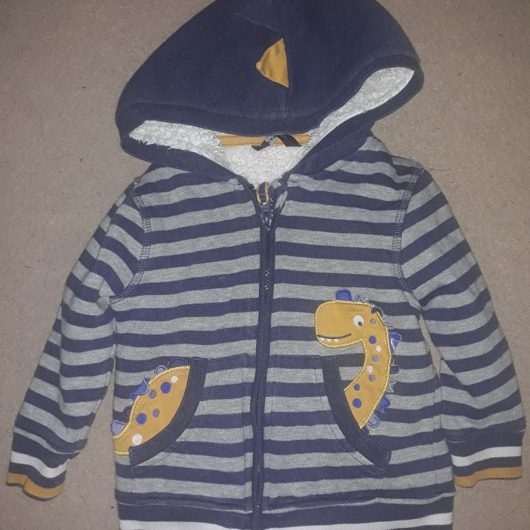 Boys dinosaur hoodie 18-24mnths)