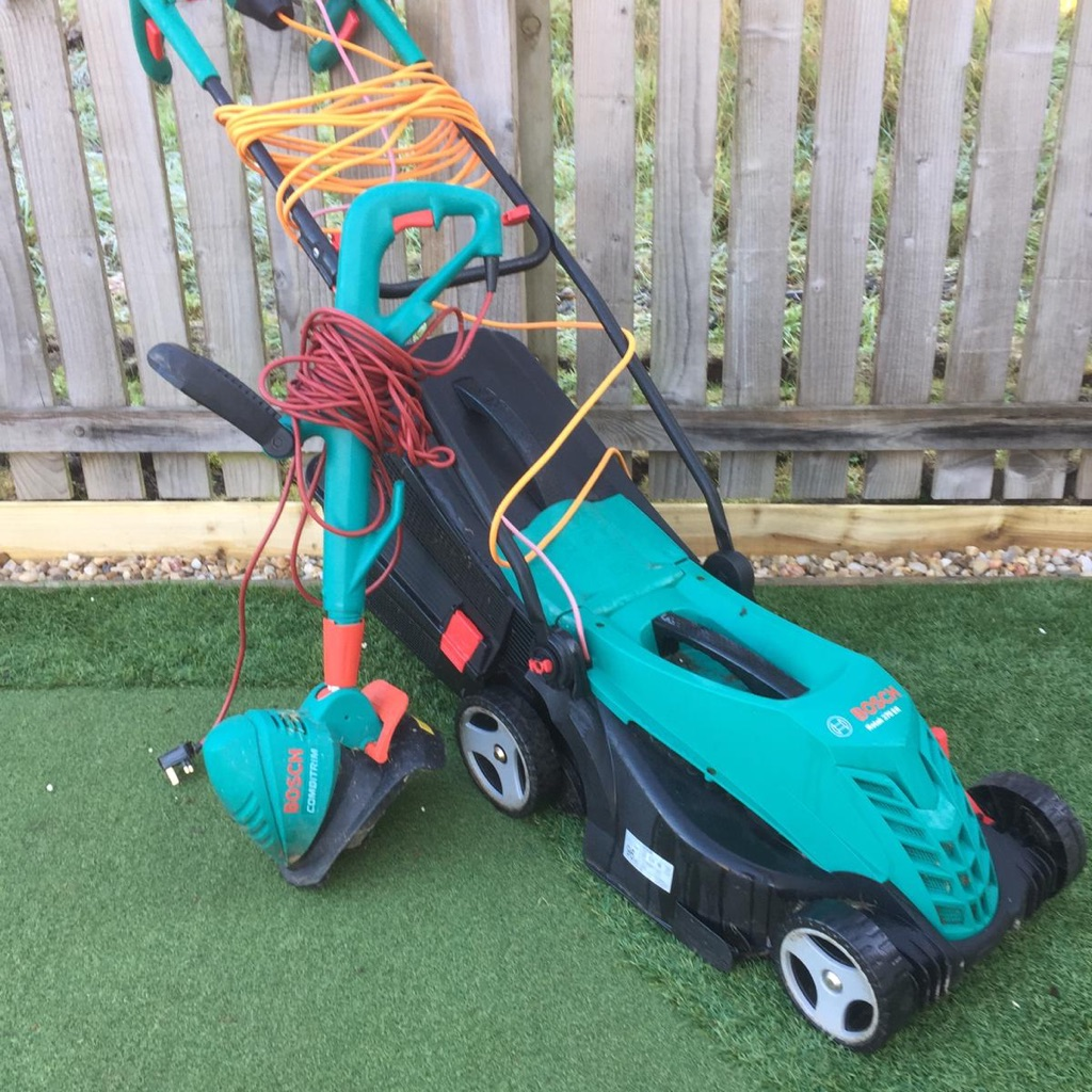 Bosch lawn mower and strummer