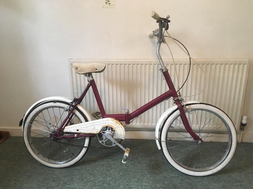 Fold Up Red Vintage Sturmey Archer Bike