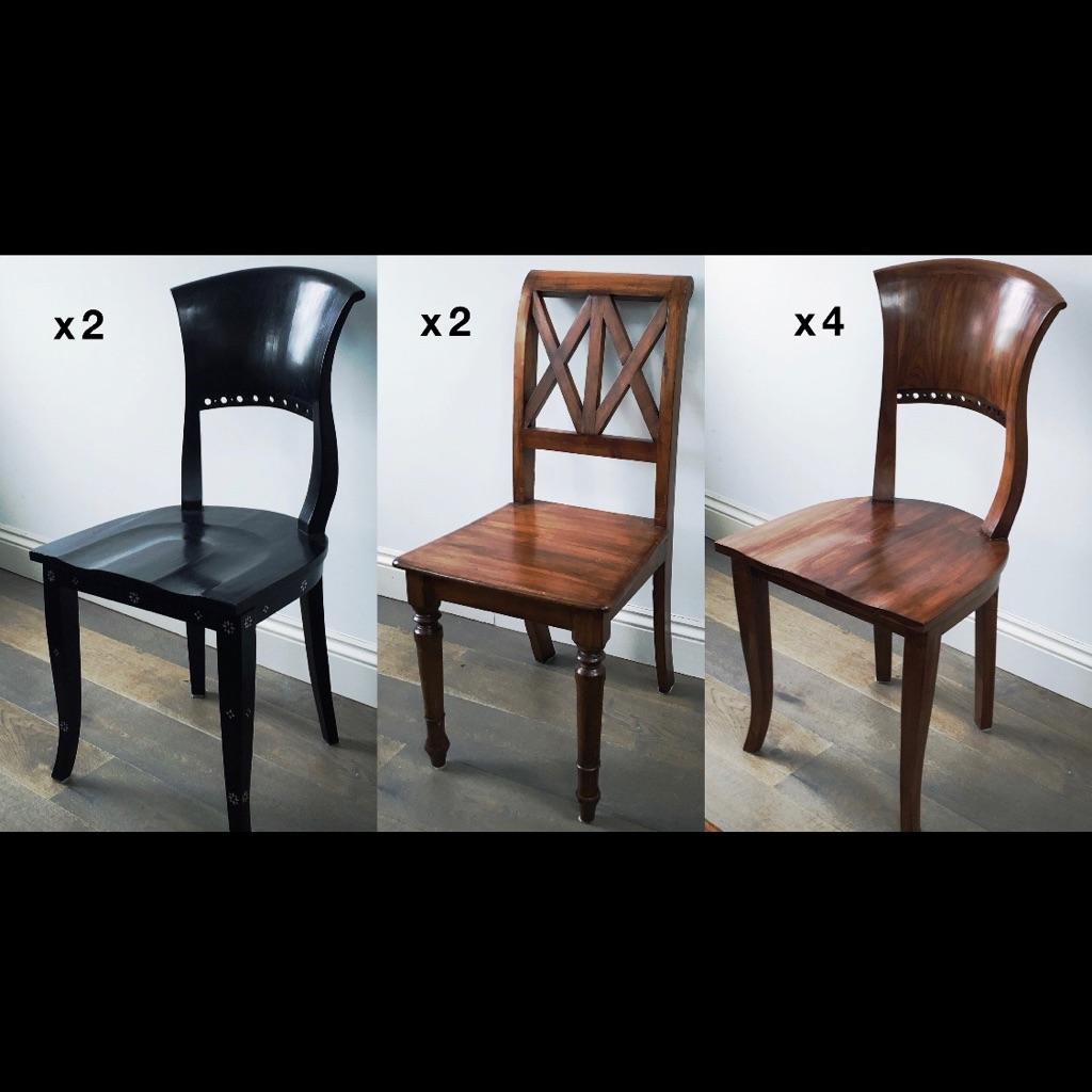 8 oak chairs £120 each