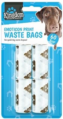 """Emoji """"poop"""" dog poo bags"""
