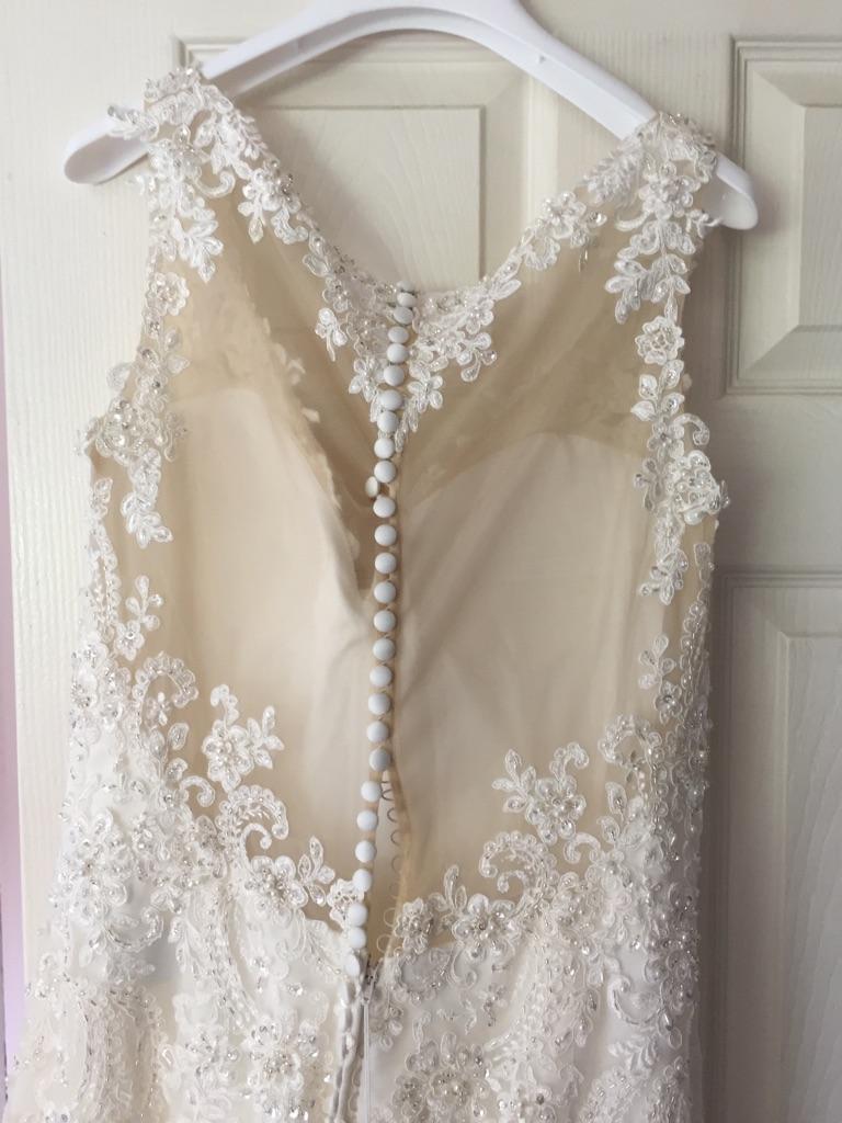 Nude and ivory wedding dress
