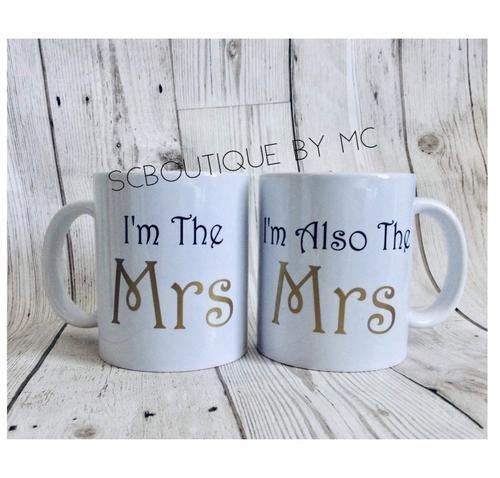 Mrs & mrs mugs