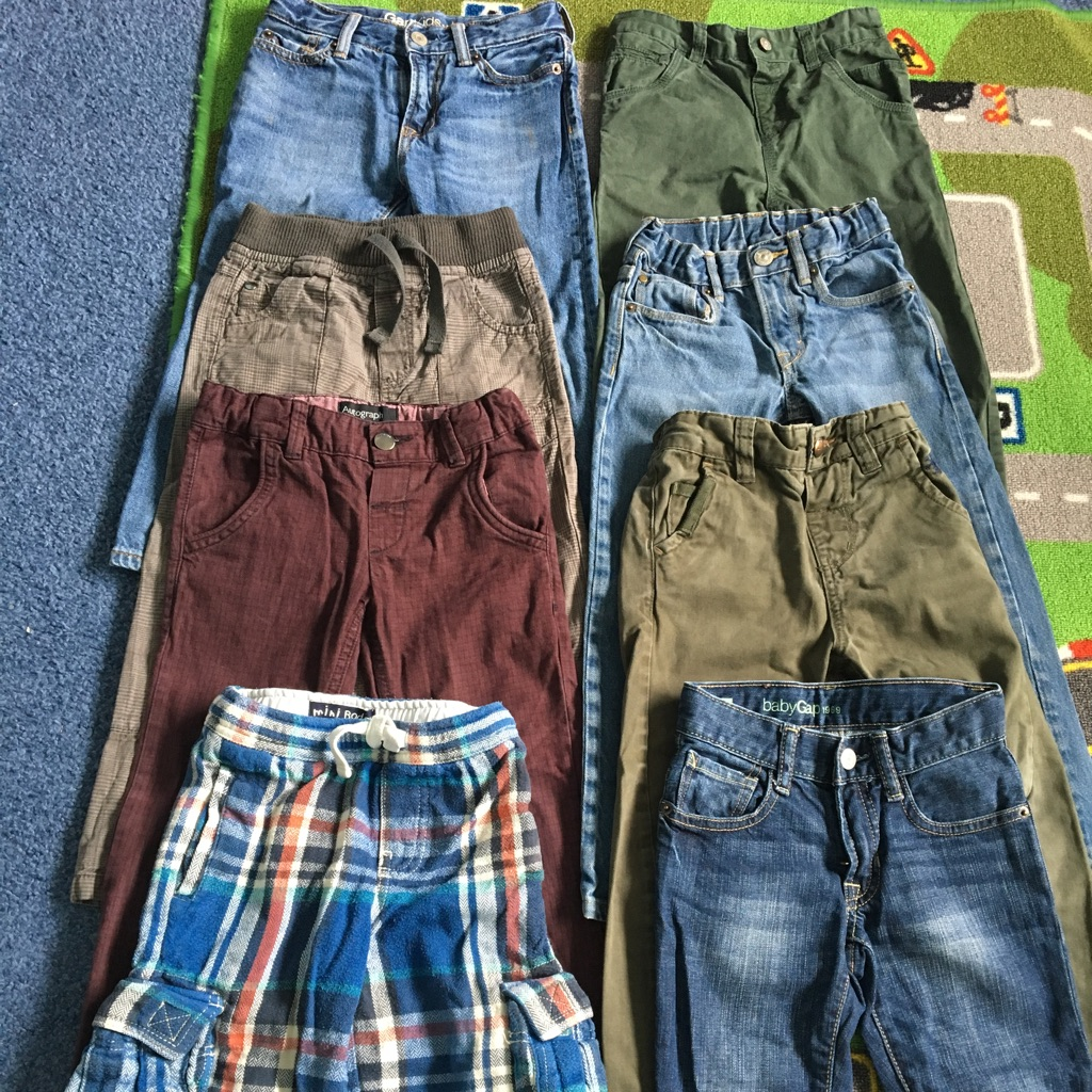 Boys jeans/trousers bundle age 4-5