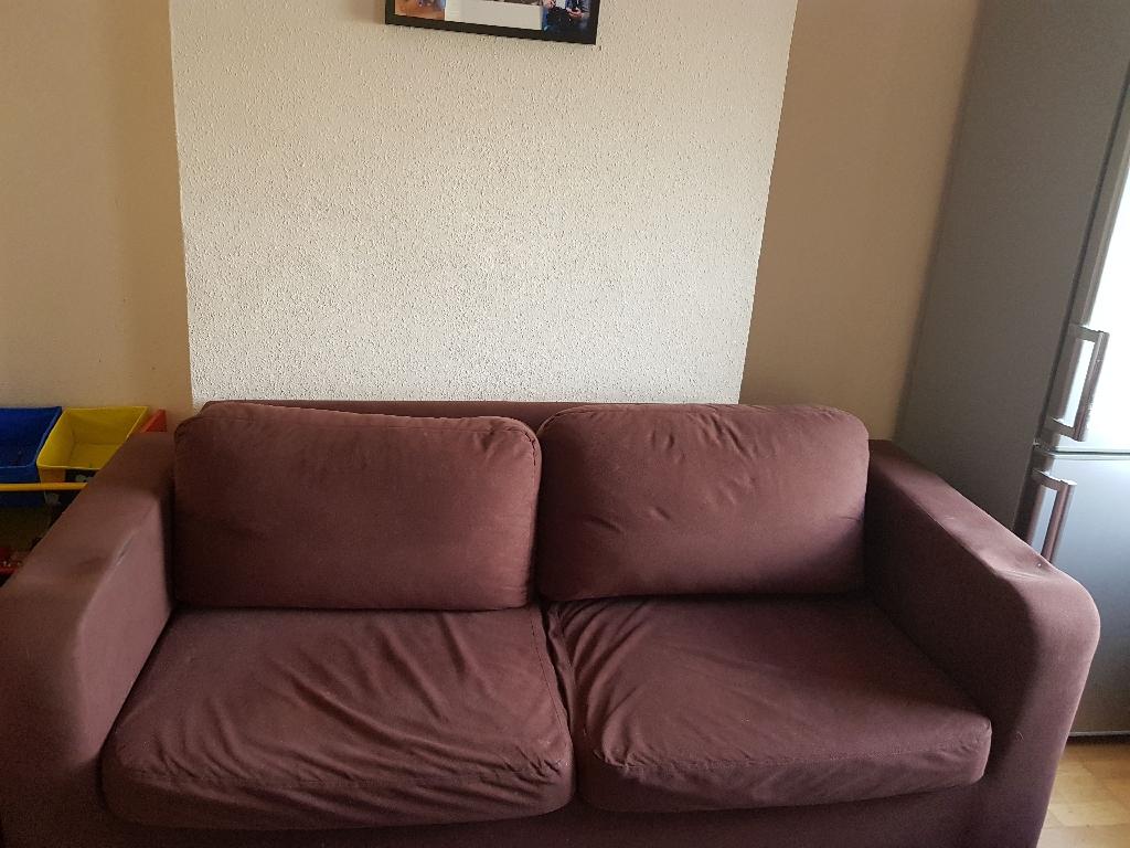 3 seater sofa brown colour