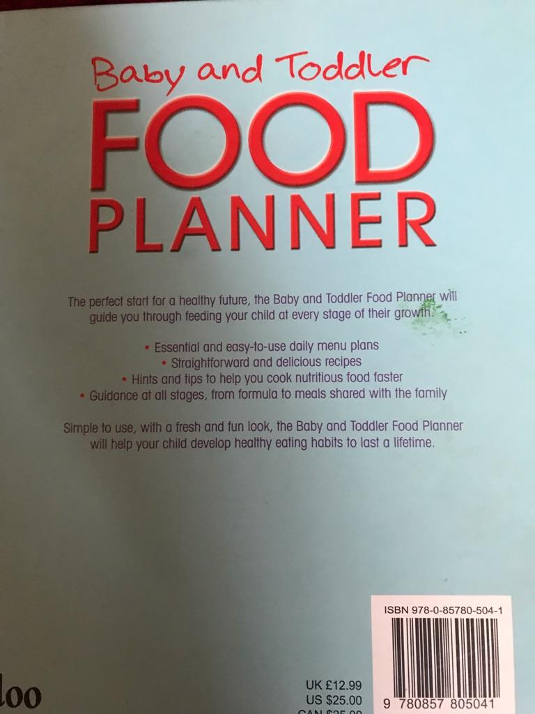 Baby & Toddler cook book