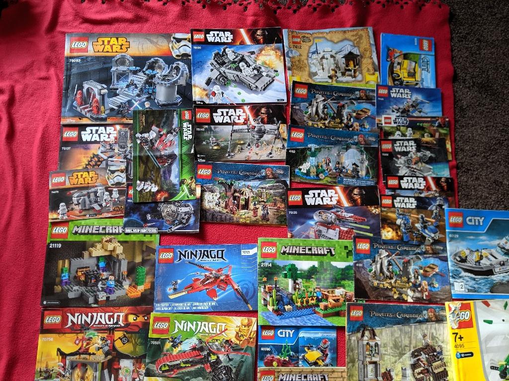 Lego Joblot, instructions, pieces, figures etc