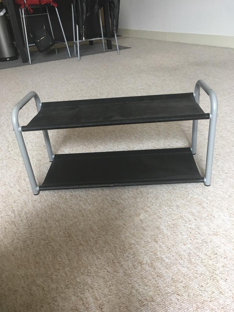 Two ikea shoe racks