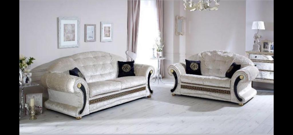 Sofa velvet diamond 3/2 seater