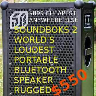 Soundboks 2 150+hr batt rugged waterproof Bluetooth speaker