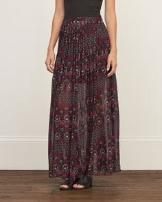 Abercrombie & Fitch chiffon maxi skirt SMALL