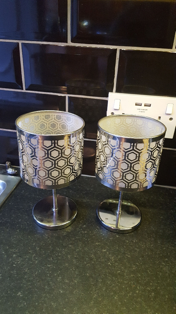 Partylite mirrored lamps