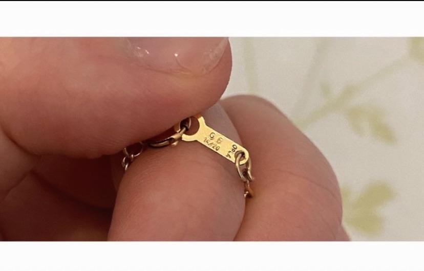 14 karat, gold filled Donald Duck necklace