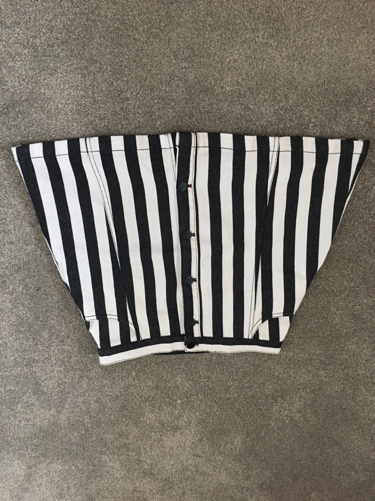 Monkl black and white denim skirt