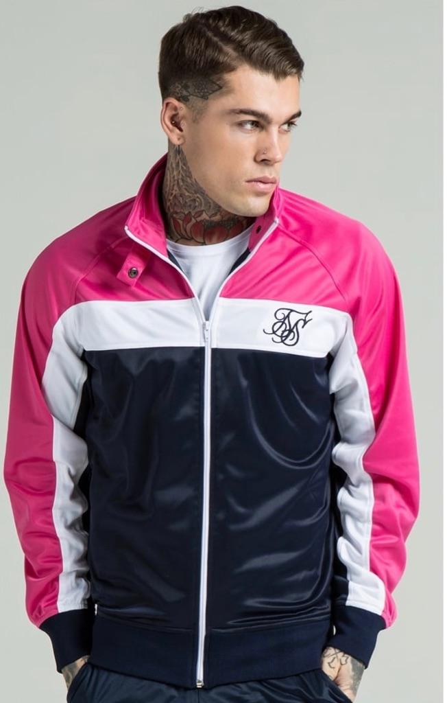 Men's sik silk tracksuit jacket