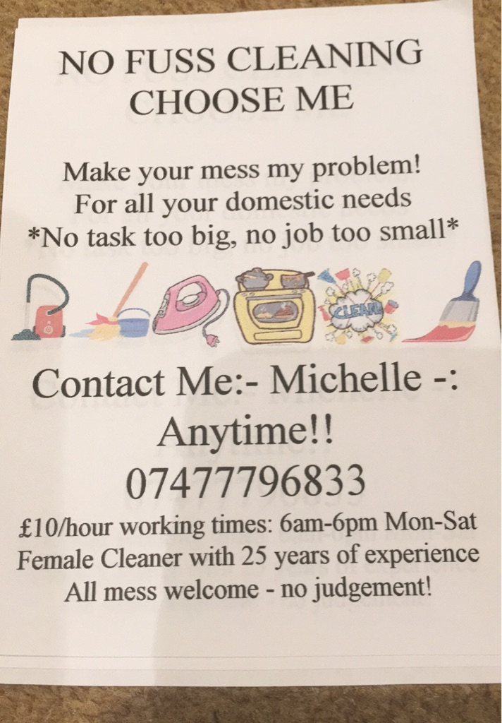 No fuss cleaning Walthamstow ...Chingford....Enfield
