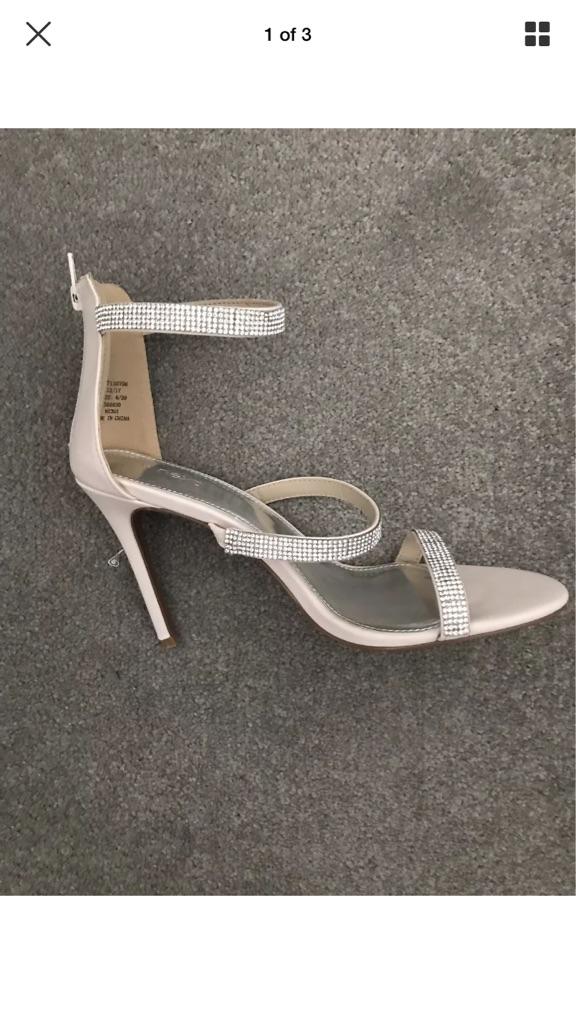 Next diamonte pale pink sandals