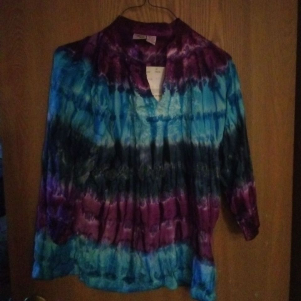 Indian tropical tiedye blouse
