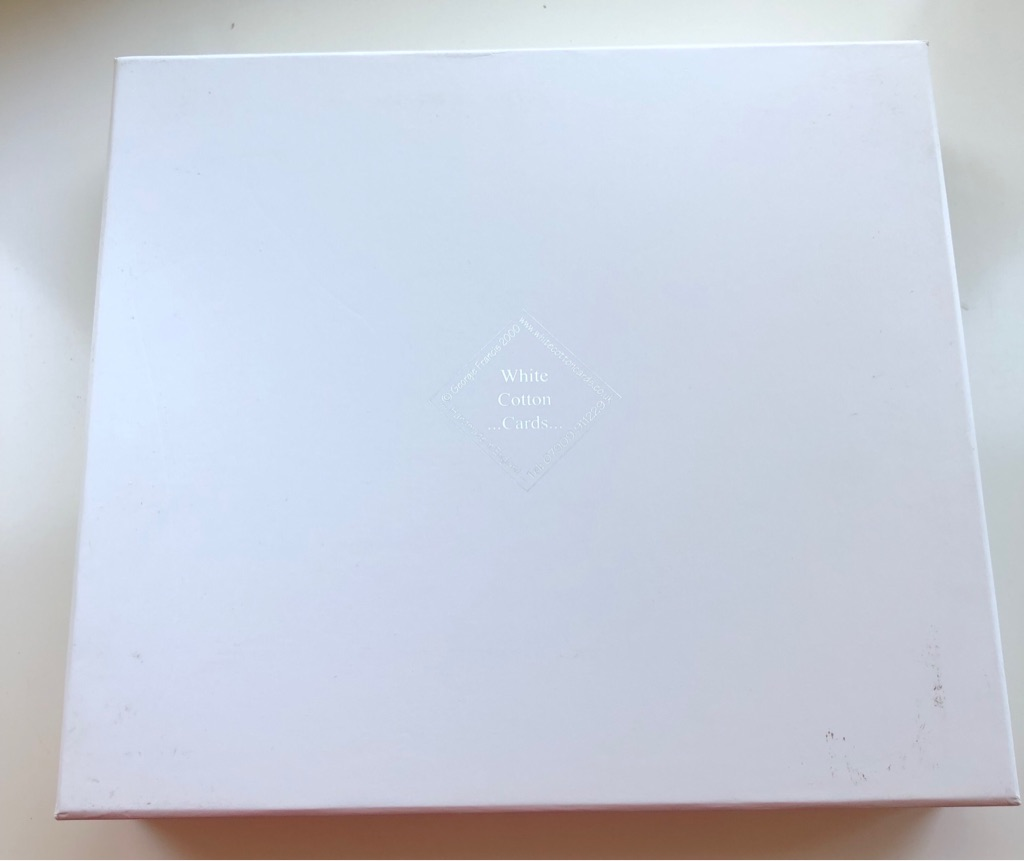 WHITE COTTON CARDS NEPHEW BOXED MEMORY BOOK