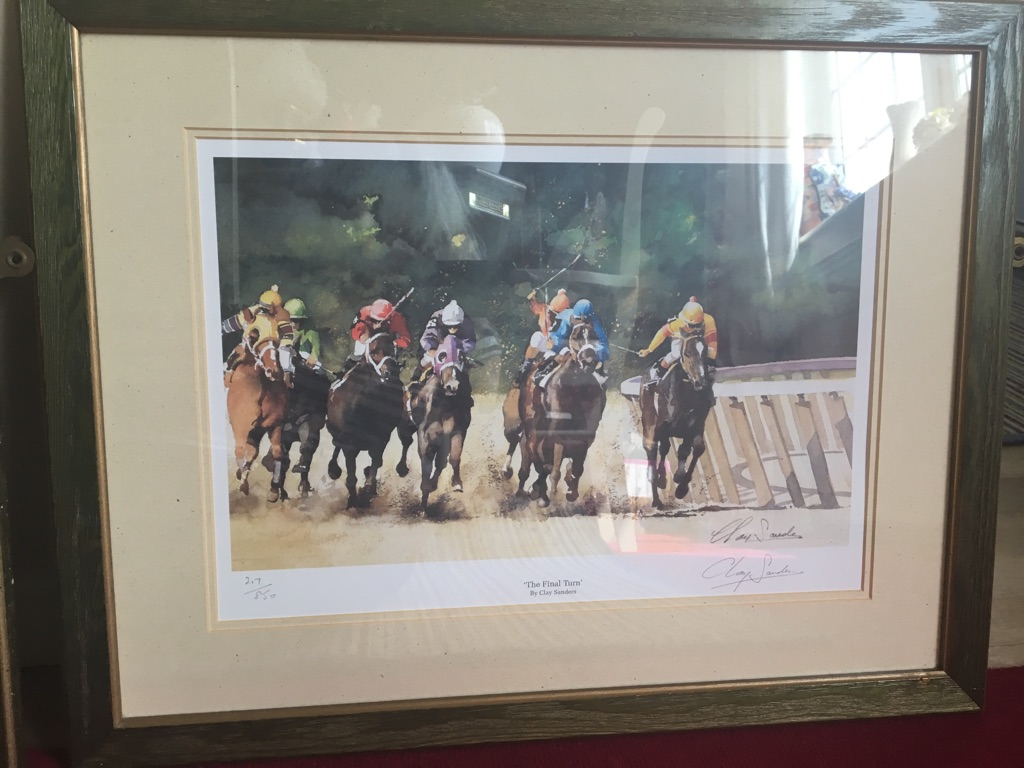 2 limited edition horse racing prints