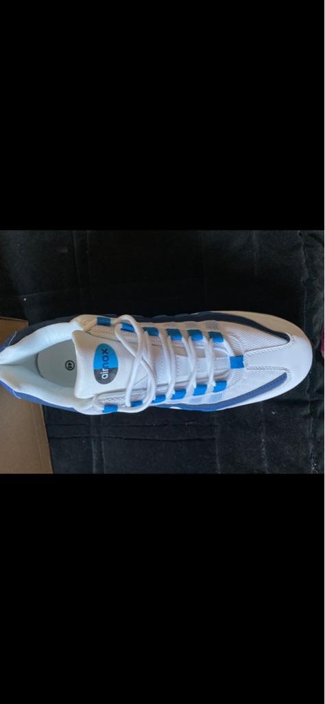 Men's brand new blue+white Nike Air Max size 10-11