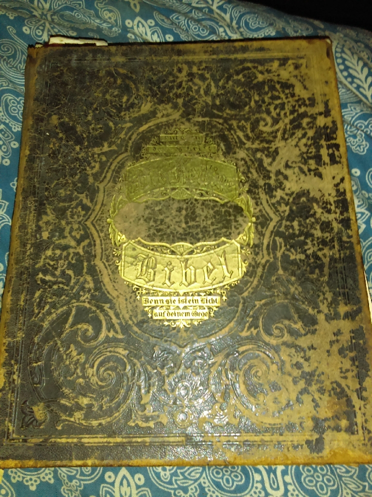 Antique 1871 German LUTHERAN Bible