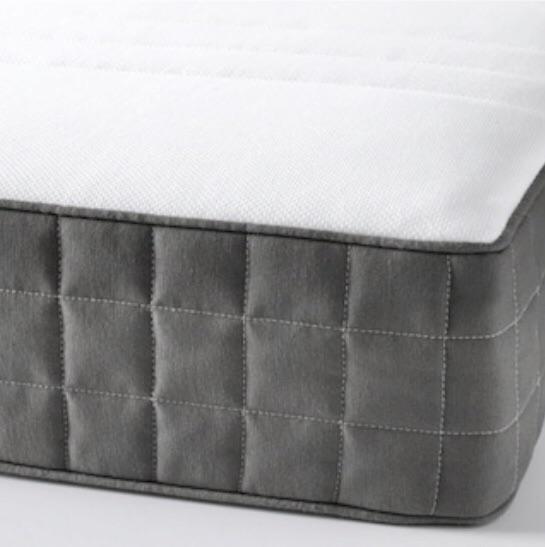 Standard Single bed frame with slatted bed base and Pocket Sprung Mattress