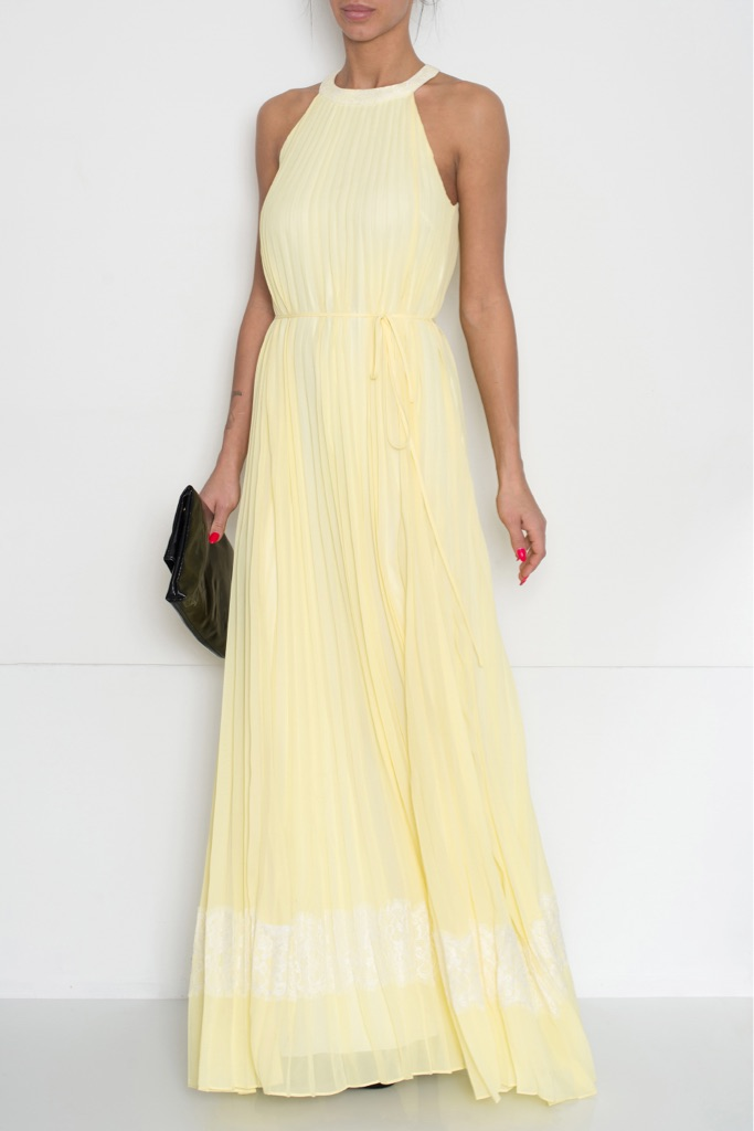 Ted Baker Lemon Yellow Maxi dress UK 8-10