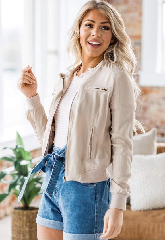 Ladies bomber jacket 20% off using my code below