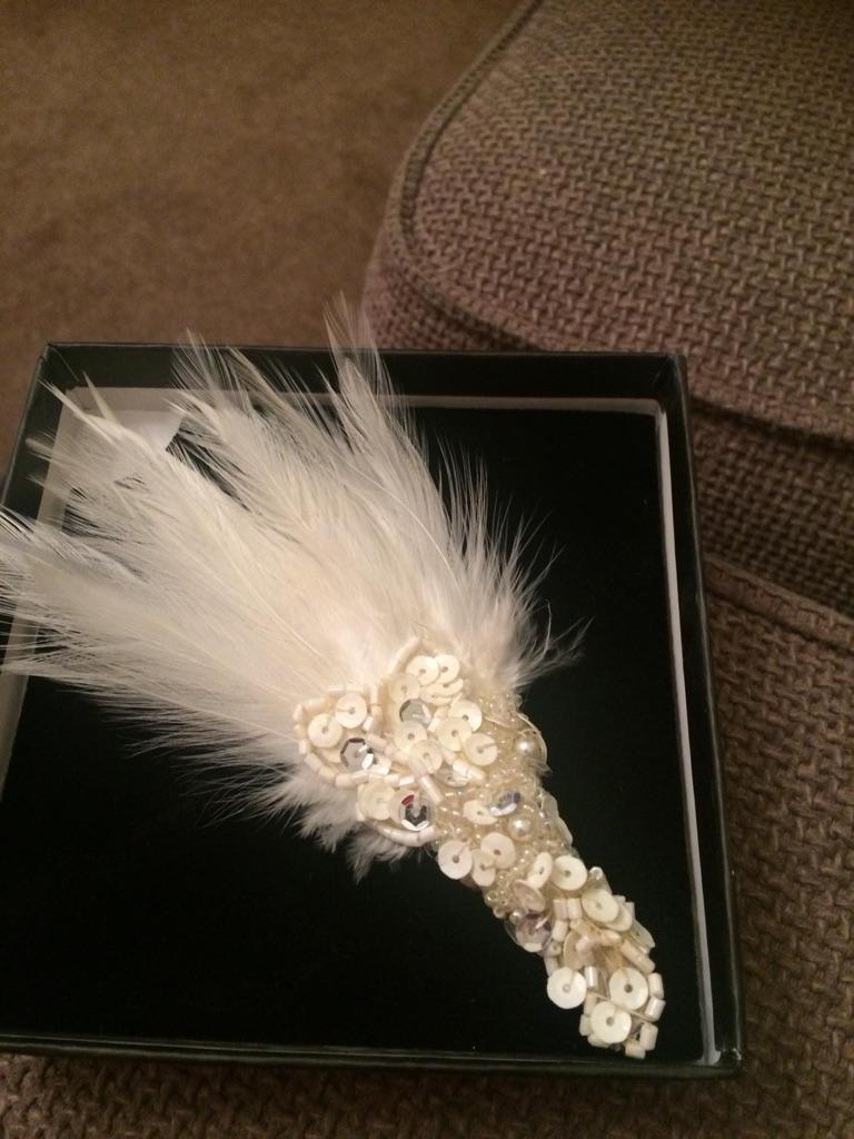 Cream wedding hair clip