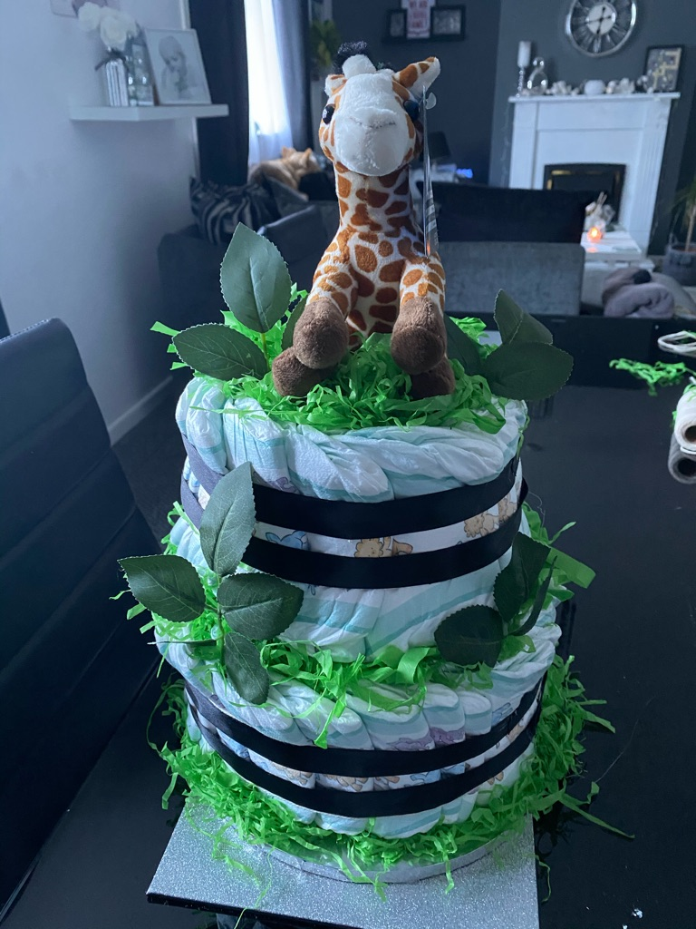 Baby nappy cake