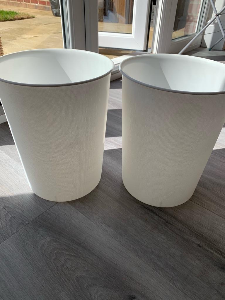 White small bin