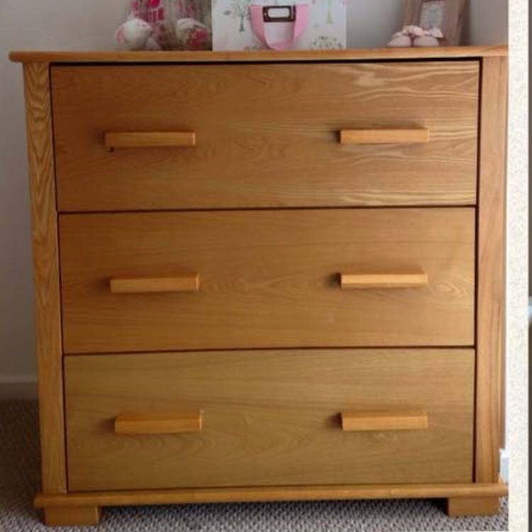 Mamas & Papas Solid Oak Chest of Drawers