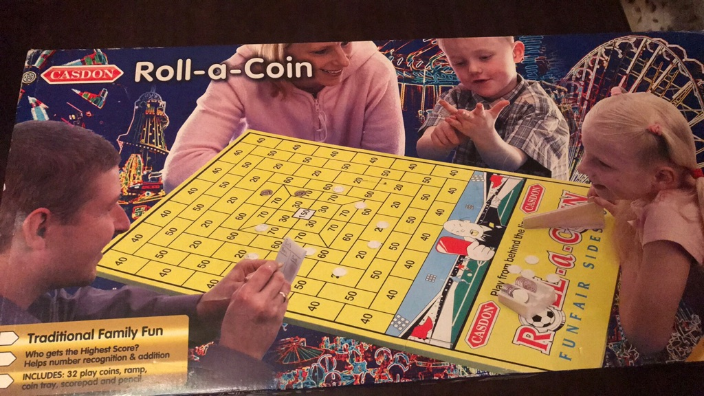 Children's Roll A Coin Game