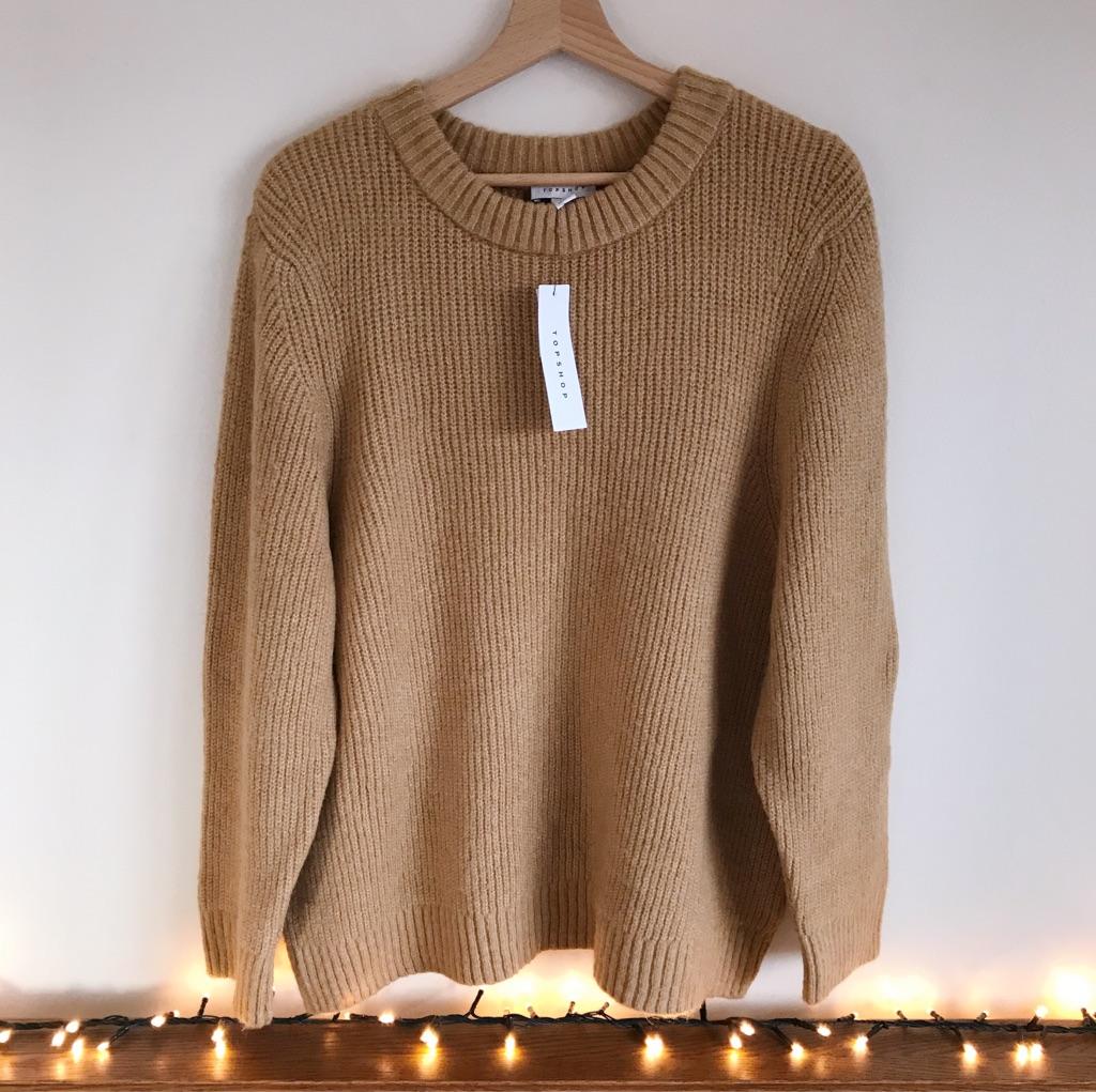 Topshop Camel Tan Soft Knit Jumper ~ Brand New!