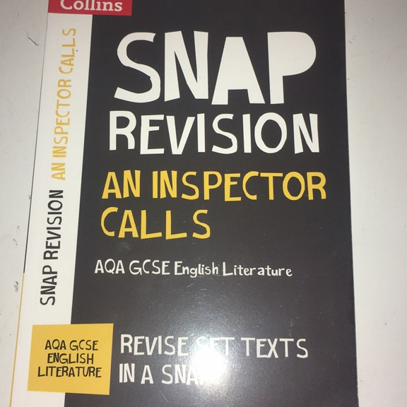Am Inspector Calls GCSE revision guide
