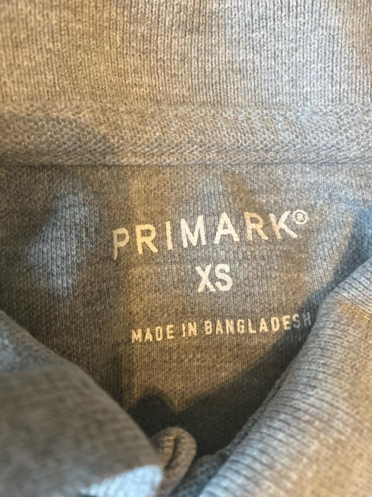 Men's grey Primark polo shirt XS