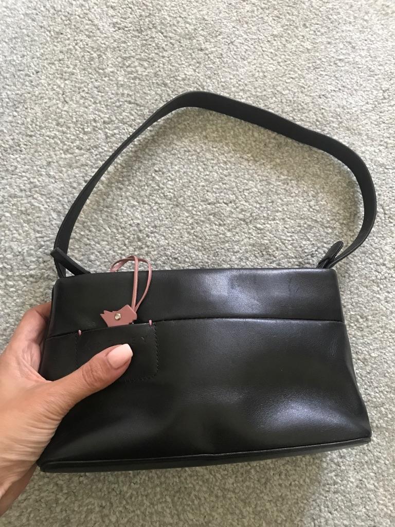 Radley black leather handbag