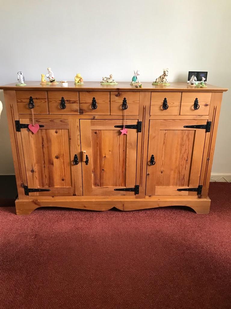 Pine cabinet and tv corner unit