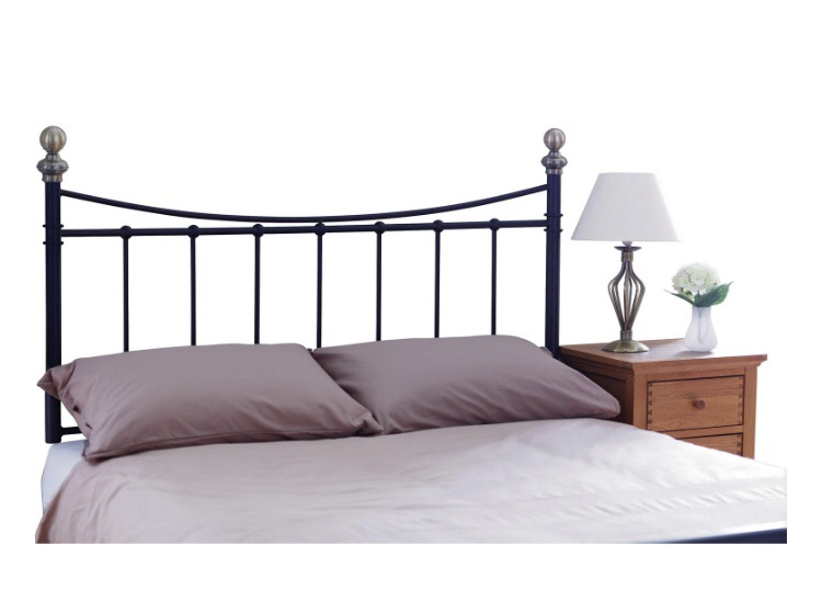 King size black metal headboard