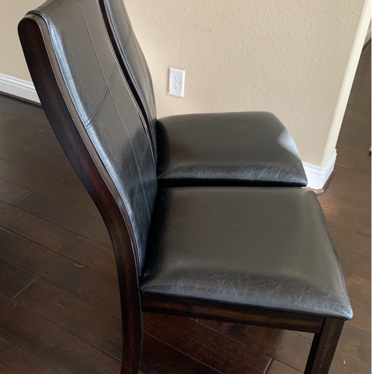 Tornillo Leather Brown Cherry Dining Chairs (Set of 2)