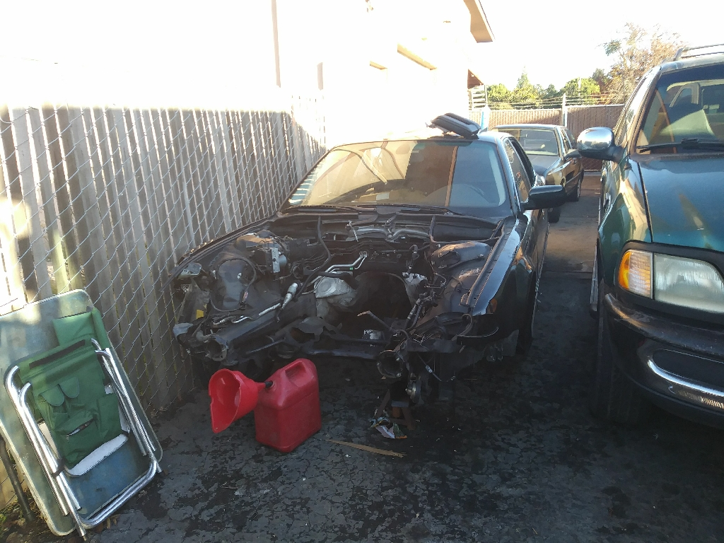 Parting out a BMW 740IL