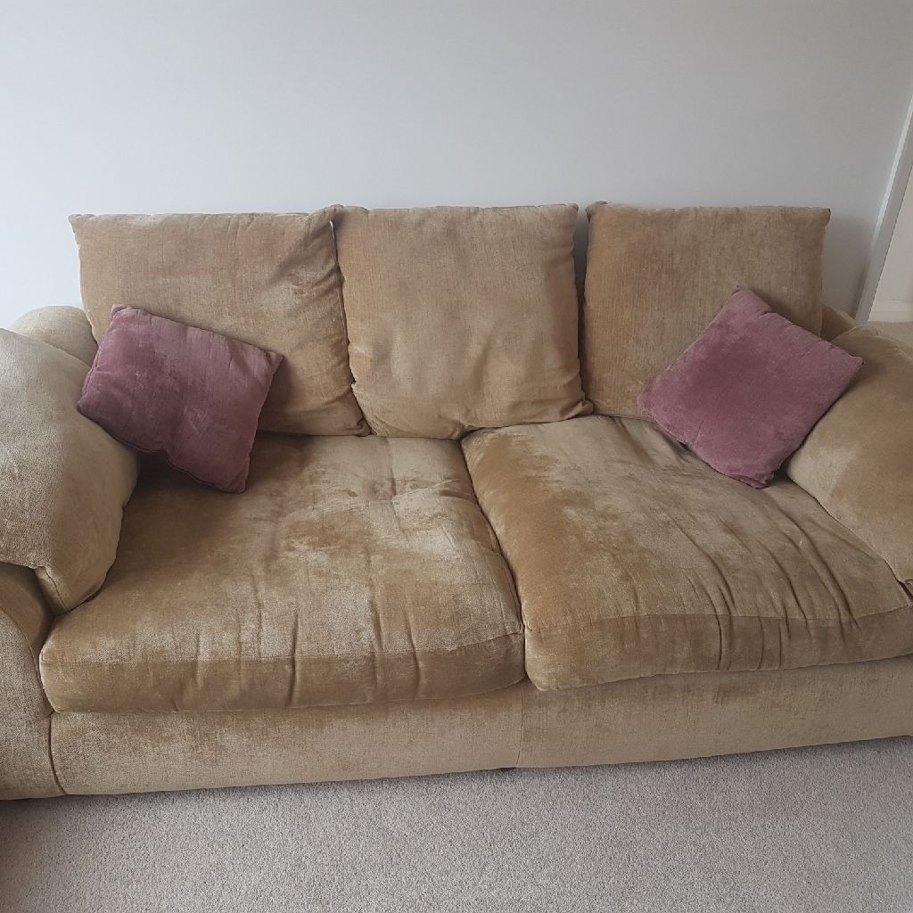 Gold 3 seater sofa