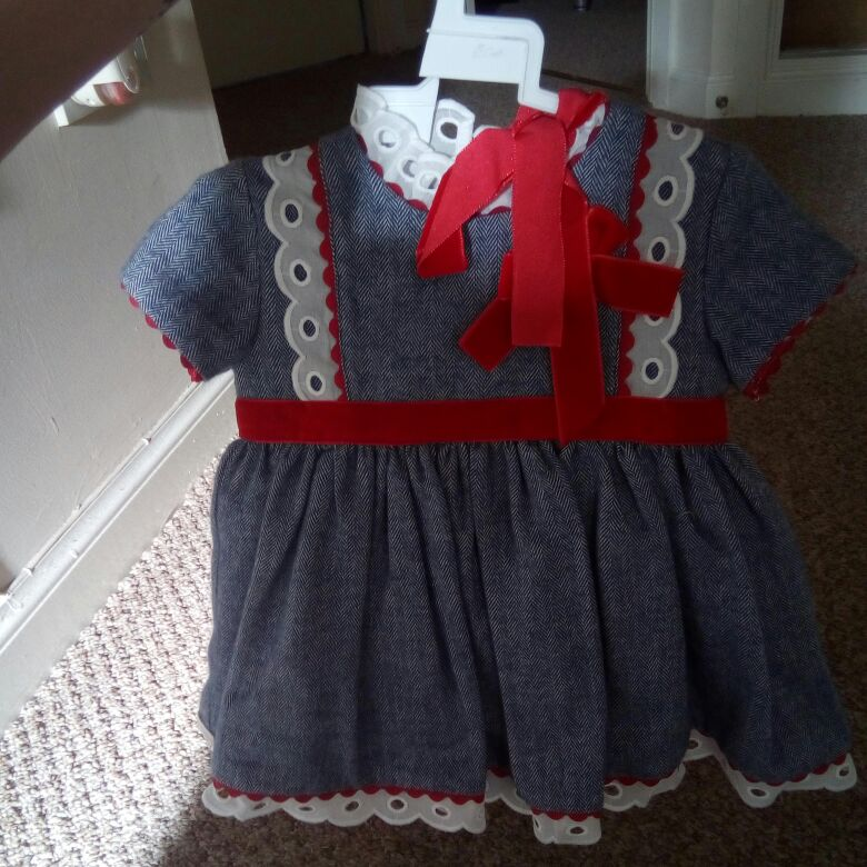 Spanish dress with bonnet and socks